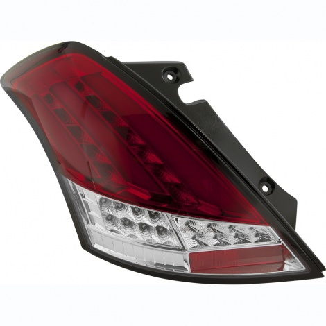 Suzuki Swift 10+ White/Red Lens LED Taillights Image 1