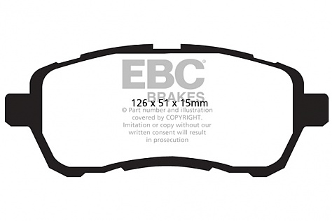 EBC Ultimax Front Pad Suzuki Swift Sport ZC32 Image 1
