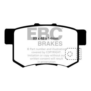 EBC Blue Stuff Rear Pad Suzuki Swift Sport ZC31 Image 1