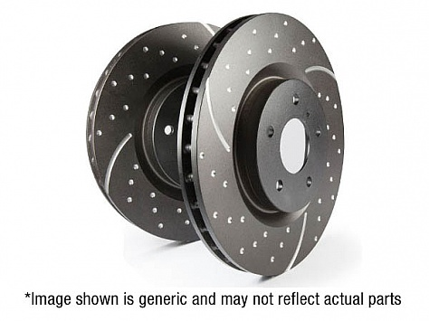 EBC GD Series Slotted And Dimpled Sport Discs (Pair) To Fit Front - i30N Image 1
